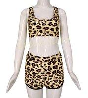 Wholesale Sexy Cow Suit - 2015 New Arrival Leopard Snake Cow Pattern Beach Bikini Set Bandeau Swimwear Sexy Bandage Bathing Suit Biquini 51