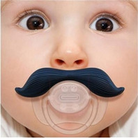 Wholesale DHL Mustache Baby Pacifier Funny Pacifier Cute Teeth Baby Boy Girl Infant Pacifier Orthodontic Dummy Beard Nipples Pacifiers