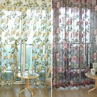 Wholesale Chic Style Room Floral Tulle Voile Window Curtain K5BO