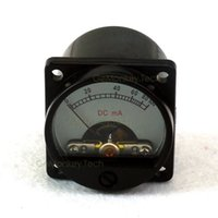 amplifier panel - Yellow Backlight Analog DC mA Amplifier Panel Meter MILLIAMPS mm