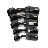 Wholesale AN4 Degree Car Swivel Hose End For Braided Nylon Black Aluminum order lt no track