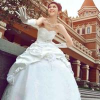 Wholesale LP14 fashionable romantic plus size beads ball gowns wedding dress vestido de novia bridal gown vestido de festa longo