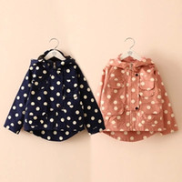 Cheap Children's Tench coats autumn and winter polka dot clothing boys girls clothing baby child trench outerwear