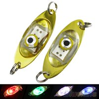 Wholesale LED Deep Drop Underwater Eye Shape Fishing Squid Fish Lure Light Flashing Lamp I7