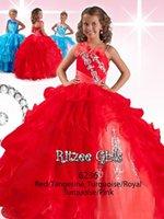 beauty silver belt - Glaring red orange organza fold belt and collar girl beauty pageant dress