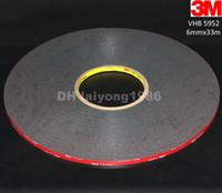 Wholesale 6mm x meter x mm Black M VHB Heavy Duty Double Side Adhesive Acrylic Foam Tape