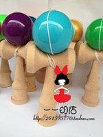 Wholesale Colors Kendama Beech Pu Paint Professional Wood Game Kids Toy Ball