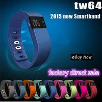 Wholesale TW64 Smart watch sports wristband bluetooth pedometer bracelet PK Fitbit flex charge pulsera inteligente fitness smart band