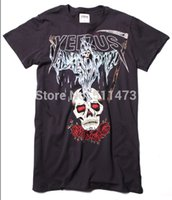 Wholesale Hot new kanye west yeezus tour roses skull mens short sleeve cotton t shirt
