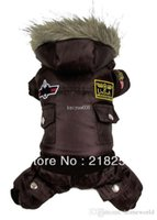 air china pets - Retail Brown New Coming Thick Warm Air Man Style Pet Dogs Winter Coat By china post new clothing for dog