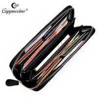 Wholesale High Quality Plaid Womens Wallet Sheep Skin Genuine Leather Wallets Multifunction Purse for Iphone Coin Burse Notecase W006