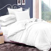 alternative case - MORPHEUS Pure Insert White Polyester Bedding Set Down Alternative Duvet Cover Bed Sheet Pillow Cases Breathable Cozy Bed Linens