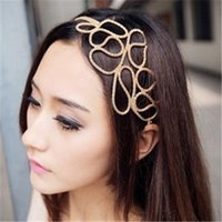 Wholesale 2015 Special Offer Tiaras White Middle Eastern Gift Factory Direct Fashionable Metal Hollow Braid Hair Hoop Headband Lead Explosion Models