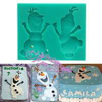 Wholesale Frozen Olaf Snowman silicone Soap Mold Chocolate Cupcake Topper Gum Paste Mould Fondant Cake Decorating Tool Cooking Tools Embossing Mat