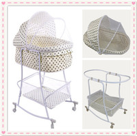 Wholesale 2015 High Quality Swing Bed Shaker and Pusher Baby Cradle Bed With Full Cover Mosquito Net Automatic Infant Bed