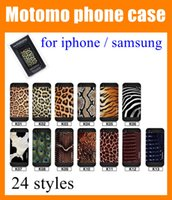 Cheap 24 styles motomo case For iphone 6 6 plus 5 5s 4 4s samsung galaxy s4 i9500 zebra leopard print cell phone case beautiful case in box SCA007