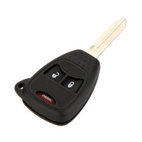 blank car key - 3 Buttons Car Key Case for Chrysler Dodge Uncut Blade Blank Car Key Shell Remote Key Case car Cover Replacement Fob K1657