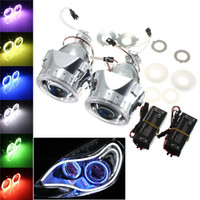 Wholesale Ccfl For Cars - Hot Sale 2.5 Inch Bi-Xenon Hi Lo for HID Projector Kit Conversion Lens Angel Eye CCFL Halo for Car Auto Headlight order<$18no track