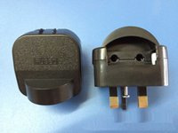 Wholesale UK to EU schuko power plug converter uk adaptor with fuse Germeny to UK Adaptor plug white Black