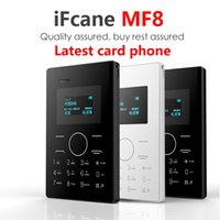 Wholesale Russian keyboard support Arabic French pocket Mini Mobile Phone for Children Kids LED Screen IFcane MF8 Card Size GSM Bluetooth