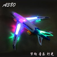 aircraft manufacturers - 30CM electric luminous air music universal simulation aircraft manufacturer Airbus A380 Specials