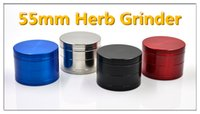 Wholesale 4Layers MM CNC Teeth Zinc Alloy Herb Grinder Herbal Tobacco Matel Colors Black SS Red Blue with Pollen Screen Hottest
