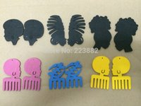 afro picks - 10pairs Mixed Afro Pick Wooden Earrings can mixed designs