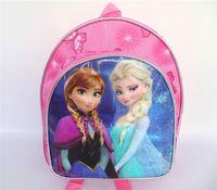 Wholesale Christmas Frozen Princess Children School Bags Kids Girls Boys Snow Queen Frozen Cartoon Backpack Anna Elsa Shoulders Preschool Bag Hot Sell