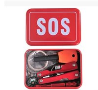 Wholesale DHL Outdoor equipment emergency bag field survival box self help box SOS equipment Gadgets B