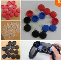 Wholesale 500pcs TPU Thumb Analog Sticker Grips for PS4 TPU Thumb Stick Grip Analogue For Xbox360 for PS3 Controller