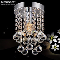chandeliers - 1 light Crystal Chandelier Mini Light Fixture Small Clear Crystal Lustre Lamp for Aisle Stair Hallway corridor porch light