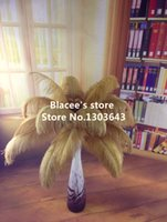 Wholesale NEW prices golden ostrich feather for wedding decor or table decor
