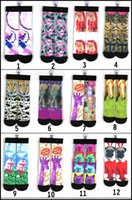 Wholesale 2015 Latest D printing Fashion socks CM styles girl boys adult stockings pairs pattern cotton sock Free ship MOQ pairs SVS0232