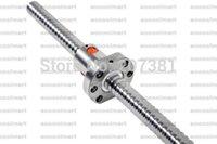 backlash free - New L350mm L500mm Anti Backlash Rolled Ballscrews with ballnut for CNC No end machining