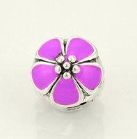 Wholesale DIY beads charm Bracelet Enamel flower European Women DIY Jewelry zinc alloy material