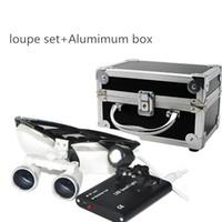 Wholesale Black New Dentist Dental Surgical Medical Binocular Loupes X mm Optical Glass Loupe Portable Light Clip Aluminum Box