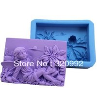 Wholesale D silicone molds R0566 Winter Elf Flower Fairy Soap candle mold soap mold silicone bakeware Chapter