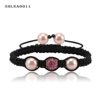 Wholesale Valentines Gift Shamballa Bracelets Bangles Pave mm AB Clay Ball and Shell Beads Fashion Bangle Colors Options SHLEASmix2