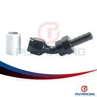 Wholesale PQY STORE High Quality AN6 Degree Swivel Crimp Bend Fitting With Barb End Black PQY SL6545