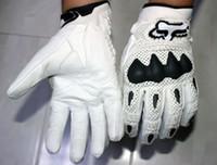 Wholesale 2015 Fox Bomber Carbon Fiber Motorcycle Full Finger Gloves Motocross Racing Gloves Gants Moto Gloves Motorcycle Gloves Free Ship