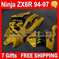 Wholesale 7gifts For KAWASAKI NINJA ZX R ZX R Q5220 Yellow west ZX6R ZX636 Body ZX R Yellow blk Fairing