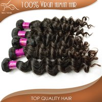 Wholesale Hot A Virgin Brazilian more loose curl human hair bulk weave hair weft black natural for your nice beauty hair