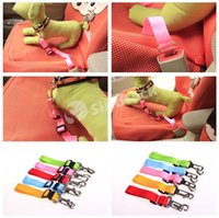 car seat belt belts - Pet Dog Car Seat Belt Collar Puppy Dogs Lead Designer Collars And Leashes Adjustable Portable Colors Harness Rope cm Free DHL Factory