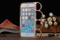 silicone finger cover - 2015 Cool Knuckle Style Finger Rings Cover for iphone case quot Metal Phone shell Bumper for iPhone inch Anti Dust hard CASES