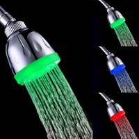 Wholesale water power four types for your chosen colors fading Magic LED Shower head home bath
