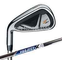 Cheap 2014 X2 HOT PRO Irons With Rifle Project X-6.0 Steel Shafts Left Hand Golf Club #4-9PAS