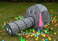 Wholesale Elephant Play Tent With Crawling Tunnel Baby Toy Tent Kids Playhouse For Out Door Fun Sports
