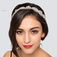 Wholesale Fashion Hair Accessories Rhinestone crystal charms head bands women jewelry Wedding bridal Crown hair jewelry