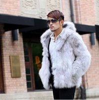 best winter coats - Fall Best selling New Winter Plush Fox Fur Coat Mink Fur Jackets Hooded Parka Coats Casual Plue Size XL Men Faux Fur Coat