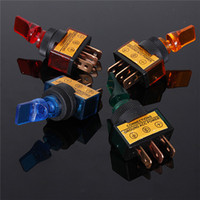 Wholesale 4pcs V A Toggle Switch red blue yellow green Led On Off Car Switch